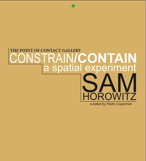 Sam Horowitz Catalog Cover
